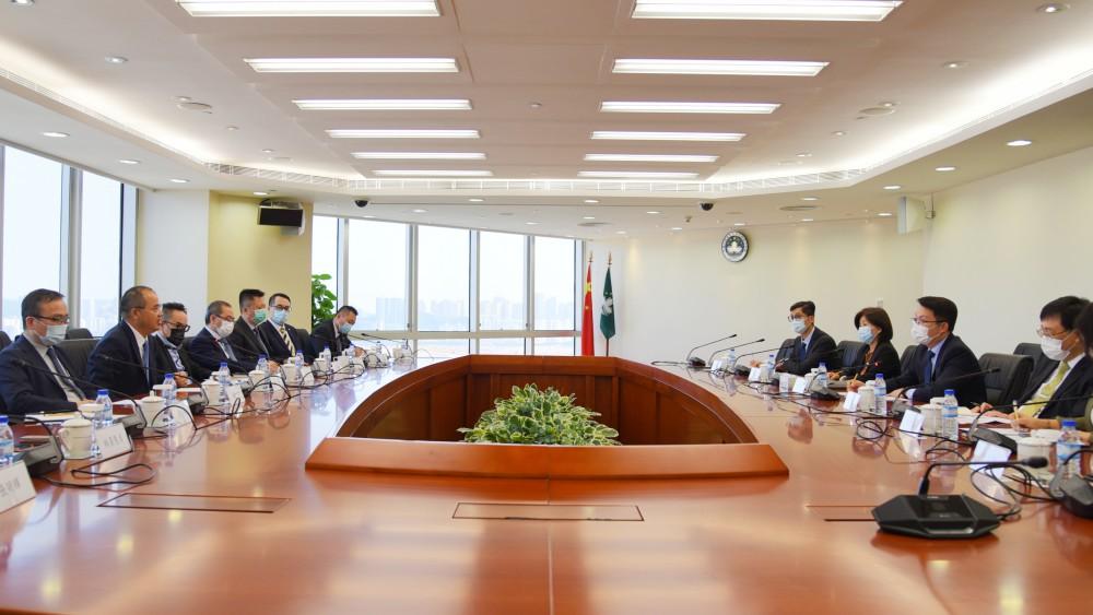 本會理監事拜訪澳門特區政府經濟財政司